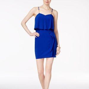 GUESS Spaghetti Strap Popover Dress Cobalt Size 12